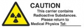 caution - carrier: radioactive substances