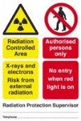 radiation controlled area - x-rays and electrons