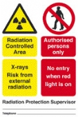 rad. control. area - x-rays fixed n/e red light
