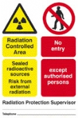 rad. control. area - sealed radioactive sources