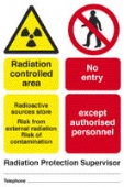 rad. control. area - radioactive source store