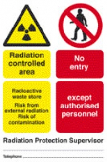 rad. supervised area - radioactive waste store