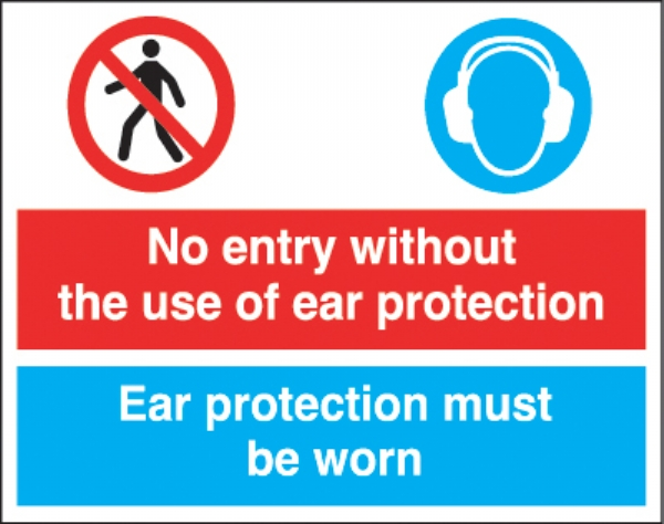 no entry without the use of ear protection