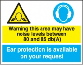 warning noise levels 80-85 db(a)