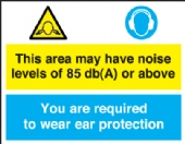 this area may have noise level 80db(a)