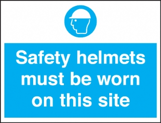 safety helmets worn on this site