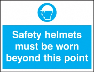 safety helmets beyond this point