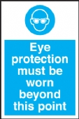eye protection beyond this point