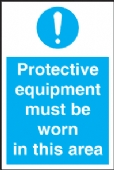 protective equipment must be worn