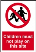 children must not play on site