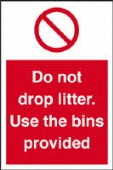 do not drop litter - use the bins provided