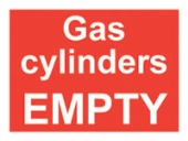 gas cylinders empty