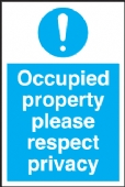occupied property respect privacy