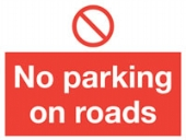 no parking on roads