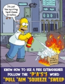 Simpsons how to use a fire extinguisher