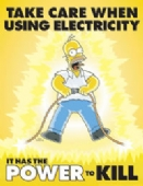 Simpsons take care using electricity