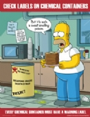 Simpsons check chemical containers