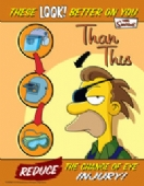 Simpsons reduce eye injury