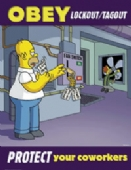 Simpsons obey lockout/tagout