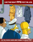 Simpsons use the right ppe