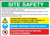 site safety multi message sign