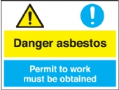 danger asbestos - permit to work