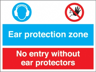 ear protection zone - no entry without ear protector