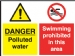 danger polluted/swimming prohibited