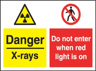 danger - x-rays do not enter when red light...