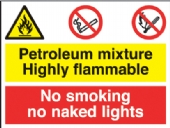 petroleum mixture/no smoking