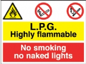 lpg highly flammable/no smoking