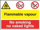flammble vapour/no smoking