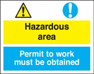 hazardous area/permit to work