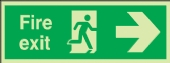 fire exit running man/arrow right