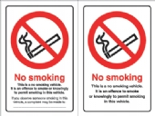 no smoking  doublesided  vehicle sticker