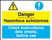 danger hazardous/data sheets