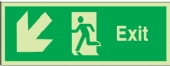 exit arrow down diag left