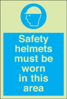 safety helmets must be worn etc