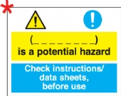 is a potential hazard handle with care