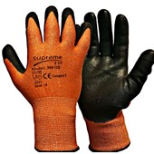 Supreme Orange Cut 3 Work Gloves 300OB with PU Coating - Cut Resistant Level 3
