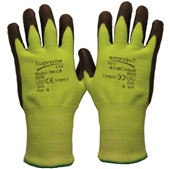 Supreme Green Cut 5 Work Gloves 500GRB with PU Coating - Cut Resistant Level 5 (Cut C)