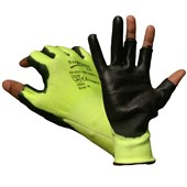 Supreme Green Cut 5 Fingerless Work Gloves 500GB-1 with PU Coating - Cut Resistant Level 5