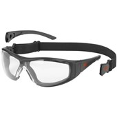 JSP Stealth Hybrid Clear Safety Glasses Google ASA450-151-102 - Anti-Scatch & Anti-Mist PremierShield Lens