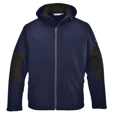 Hooded Breathable Workwear Softshell Jacket (3L)