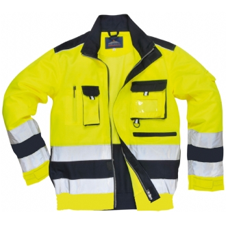Texo High Visibility Poly-Cotton Lille Jacket Yellow/Navy