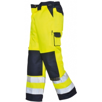 Texo High Visibility Poly-Cotton Lyon Trousers Yellow/Navy