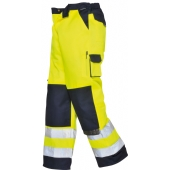 Portwest TX51 Lyon Yellow/Navy Hi Vis Poly-Cotton Trousers