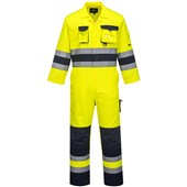 Portwest TX55 Nantes Yellow/Navy Hi Vis Poly-Cotton Coverall