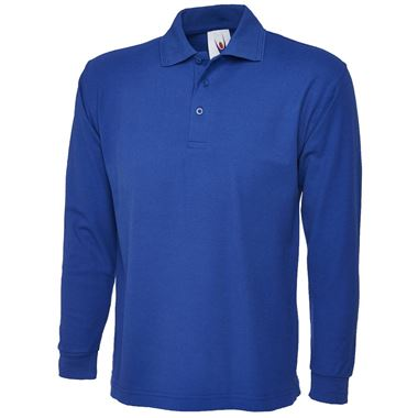 Uneek UC113 Long Sleeve Workwear Polo Shirt 250g
