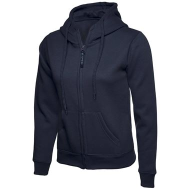 Uneek UC505 Ladies Classic Full Zip Hooded Workwear Sweatshirt 300g